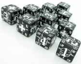 Black & White Battle D6 German Dice Set